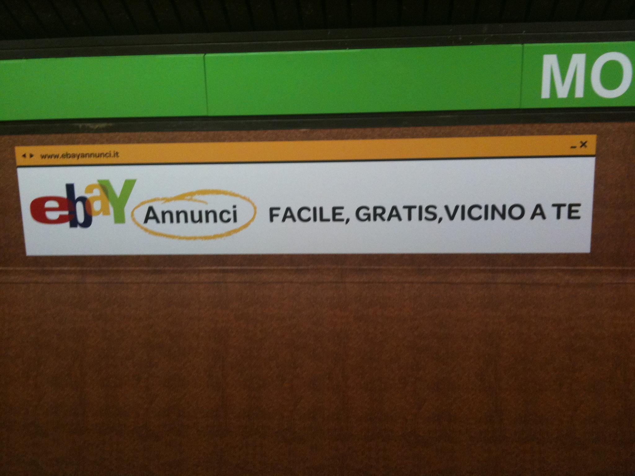 Ambient marketing in metro milano dalla bacheca virtuale for Ebay annunci milano arredamento