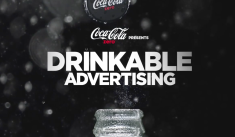 Coca Cola Drinkable advertising